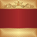 Royal background gold and red Stock Image