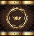 Royal background with golden ornate frame Royalty Free Stock Photo