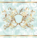 Royal background with golden ornate frame Royalty Free Stock Image