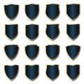 Royal badge and shield set vector
