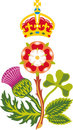 Royal Badge of United Kingdom of Great Britain Stock Images