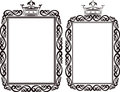 Royal border clip art illustration Royalty Free Stock Images