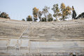 Royal boxes seats from 1908 located on the Middle West side of the Panathenaic stadium, Athens,Greece Royalty Free Stock Photo