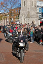 Royal british legion motorcycle parade aylesbury uk november members of the section lead the of veterans marchpast at the Stock Photo
