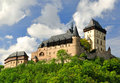 Royal castle karlstejn in czech republic Stock Images