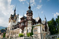 Royal castle of Peles in Romania Royalty Free Stock Photography