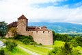 Royal castle in vaduz liechtenstein town kingdom tiny country europe Royalty Free Stock Photo