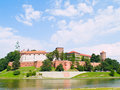 Royal castle in Wawel, Poland Royalty Free Stock Images