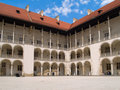 Royal castle in Wawel, Poland Stock Photography