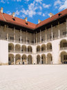 Royal castle in Wawel, Poland Stock Images