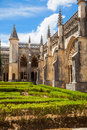 Royal cloister of Batalha monastery Stock Images