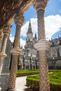 Royal cloister of Batalha monastery Royalty Free Stock Image