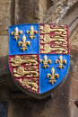 Royal coat of arms at all souls college oxford the standard or on the exterior one the historic colleges the university Royalty Free Stock Photography