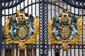 Royal Coat of Arms at Buckingham Palace Stock Photography