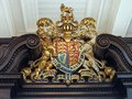 Royal coat of arms of england colorfully painted Royalty Free Stock Photo