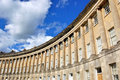 Royal Crescent building in Bath, England. Royalty Free Stock Photo