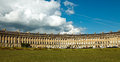 The royal crescent in city of bath somerset england Stock Images