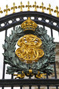 Royal Crest at Buckingham Palace Stock Photography