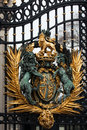 Royal Crest at Buckingham Palace Gate in London Royalty Free Stock Photo