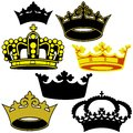 Royal crown colored heraldic illustrations vector Stock Photo
