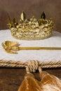 Royal crown on cushion Royalty Free Stock Photo