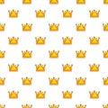Royal crown pattern seamless