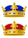 Royal crowns Stock Photos