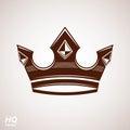 Royal design element, regal icon. Vector majestic crown, luxury stylized coronet illustration.