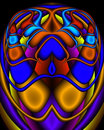 A Royal Egyptian Fractal Scarab Royalty Free Stock Photos