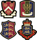 Royal emblem badge shield Royalty Free Stock Photo