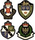 Royal emblem badge shield Royalty Free Stock Photo