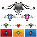 Royal emblems vector eps illustration of colorful Stock Photos