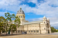 Royal Exhibition Building, a UNESCO world heritage site in Melbourne, Australia Royalty Free Stock Photo