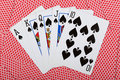 Royal flash poker concept with cards Royalty Free Stock Images