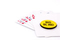Royal flush big bling white background Royalty Free Stock Images