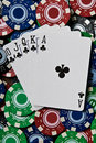 Royal Flush of Clubs Royalty Free Stock Photos