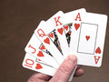 Royal flush, hearts Royalty Free Stock Photo