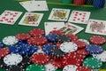 Royal Flush of Hearts Royalty Free Stock Photo