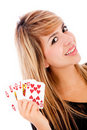 Royal flush in poker Stock Photos