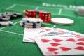 Royal flush in poker Royalty Free Stock Photo