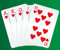 Royal flush poker cards Royalty Free Stock Photography