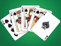 Royal Flush of Spades Royalty Free Stock Photography