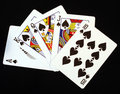 Royal Flush In Spades Royalty Free Stock Image