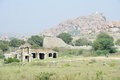 Royal fort of zenana enclosure in front matanha hill at hampi on india Royalty Free Stock Photography