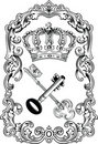 Royal Frame Crown And Keys. Royalty Free Stock Photos