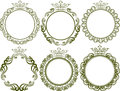 Royal frames set of with crown Stock Photography