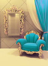 Royal  furniture in interior Stock Photography