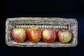 Royal Gala Apples in Basket Royalty Free Stock Photo