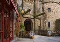 Royal gate Mont-Saint-Michel. Royalty Free Stock Photo