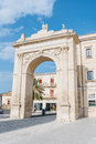 Royal Gate in Noto, Sicily, Italy Royalty Free Stock Photo